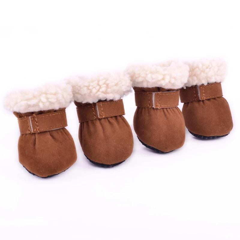 Dog Shoes Snow Brown