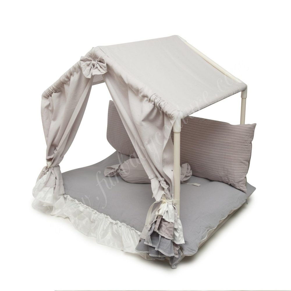 Dog Cabana Bed Gray Side
